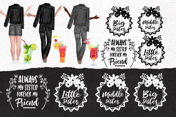 Best Friends Clipart Graphic Illustrations By LeCoqDesign - Image 4