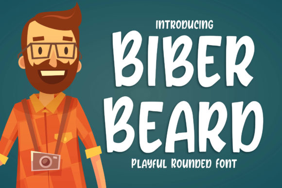 Print on Demand: Biber Beard Display Font By Blankids Studio