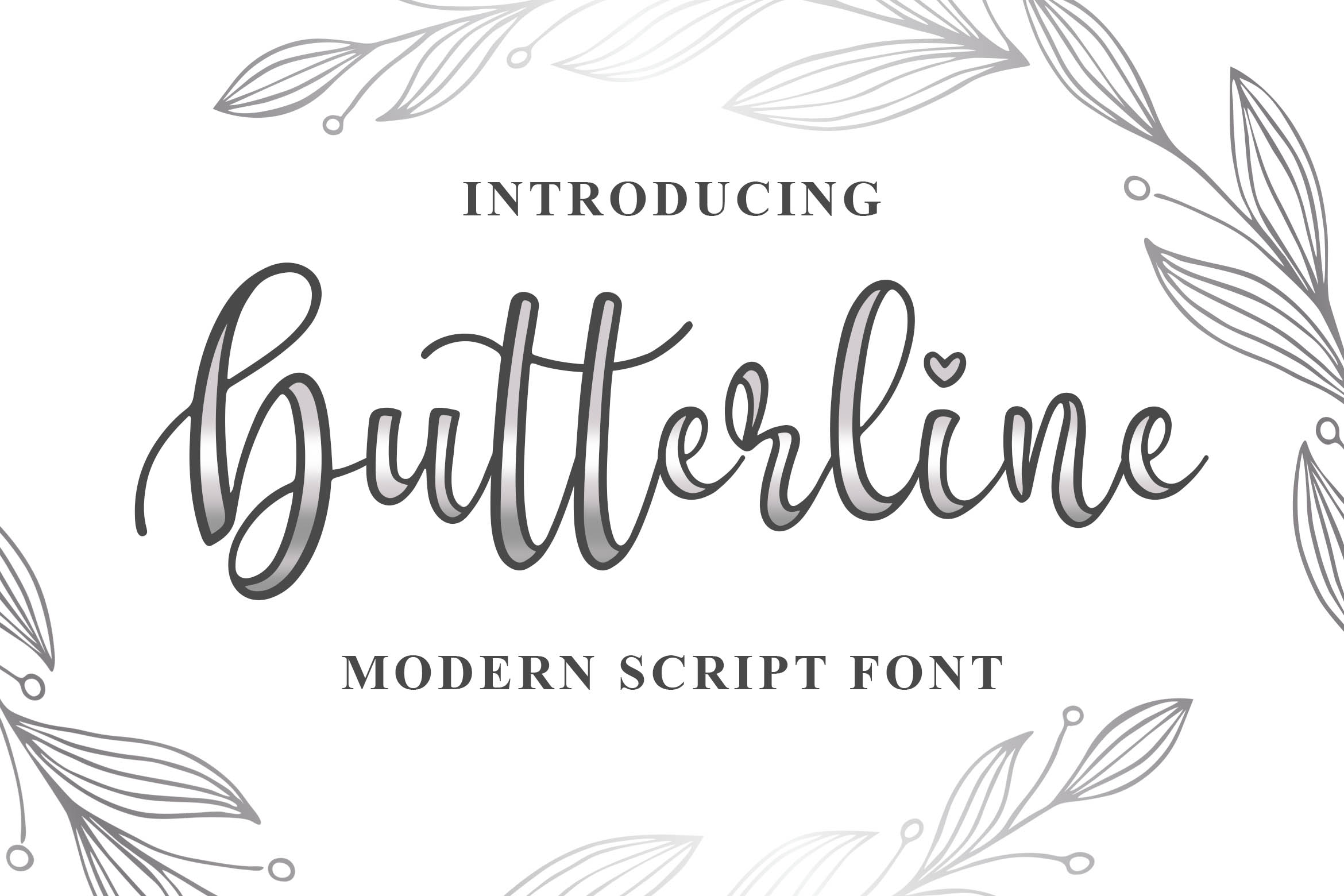 Butterline Font By Blankids Studio Creative Fabrica