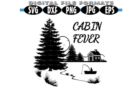 Print on Demand: Cabin Fever Scenic Graphic Illustrations By Shannon Casper