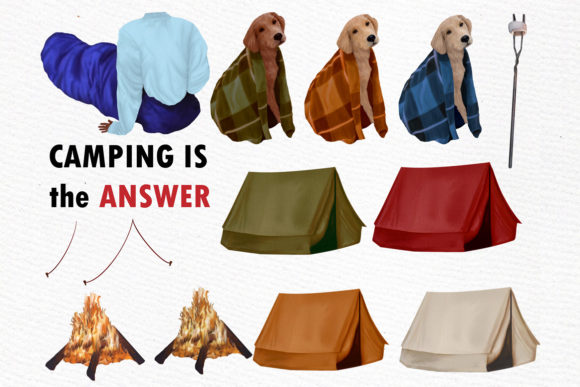 Camping Clipart Graphic Illustrations By LeCoqDesign - Image 3
