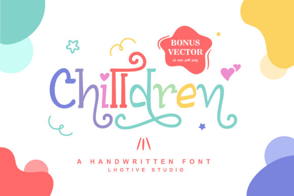 Print on Demand: Chilldren Script & Handwritten Font By lhotive