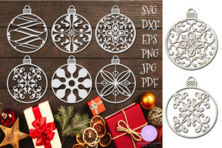 Print on Demand: Christmas Ornament Bundle Graphic Illustrations By Shannon Casper