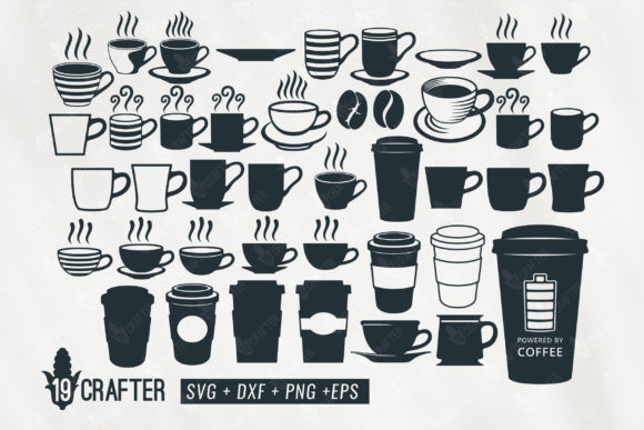 Print on Demand: Coffee Cup and Mug Set Graphic Crafts By great19