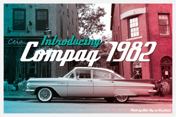 Print on Demand: Compaq 1980 Script & Handwritten Font By AwesomeGraphic