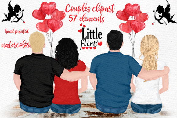 Couples Clipart Graphic Illustrations By LeCoqDesign - Image 1