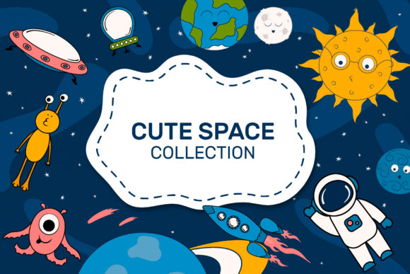 Cute Space Collection Graphic Illustrations By Kirill's Workshop