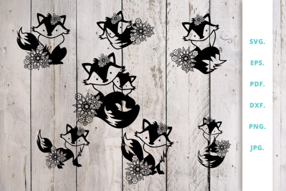 Print on Demand: Floral Cute Fox Graphic Crafts By Sintegra