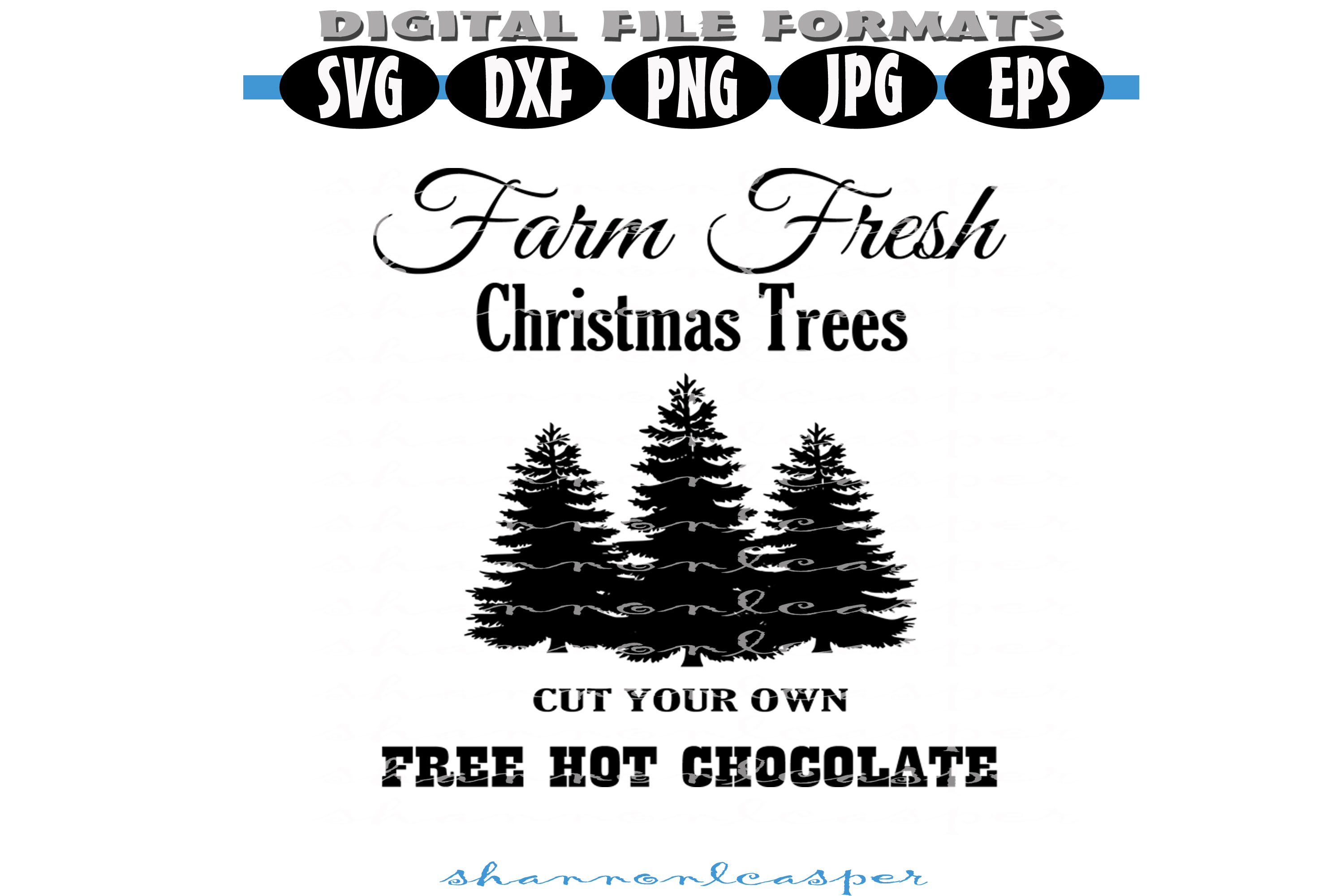 Download Free Fresh Farm Trees Graphic By Shannon Casper Creative Fabrica for Cricut Explore, Silhouette and other cutting machines.