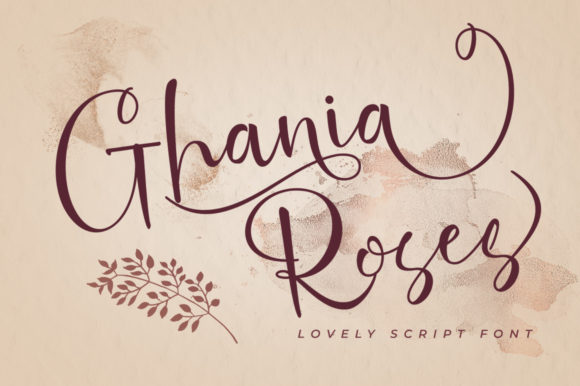 Print on Demand: Ghania Roses Script & Handwritten Font By akrtype
