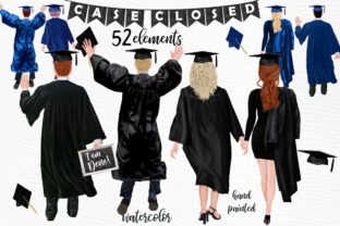 Print on Demand: Graduation Clipart Graphic Illustrations By LeCoqDesign