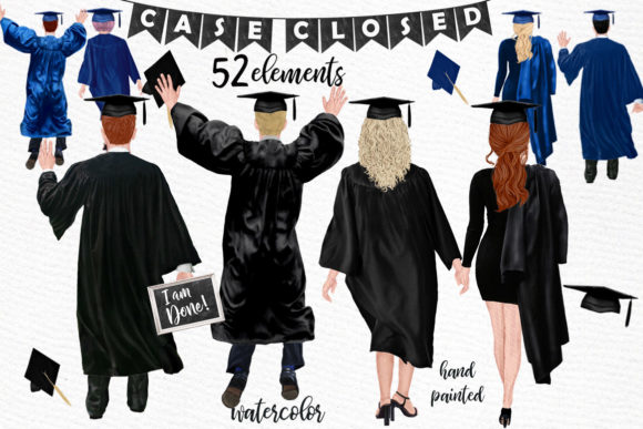 Graduation Clipart Graphic Illustrations By LeCoqDesign