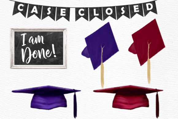 Graduation Clipart Graphic Illustrations By LeCoqDesign - Image 4