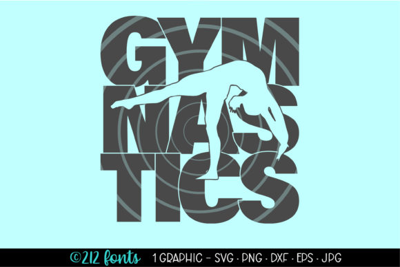 Print on Demand: Gymnastics Silhouette Graphic Clip Art Graphic Illustrations By 212 Fonts