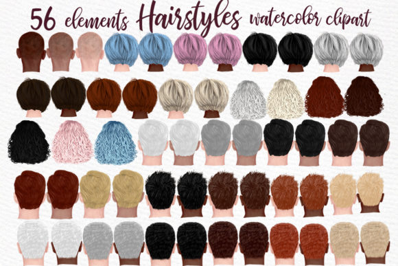 Hairstyles Clipart Graphic Illustrations By LeCoqDesign - Image 1