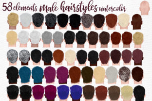 Print on Demand: Hairstyles Clipart Graphic Illustrations By LeCoqDesign