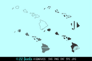 Print on Demand: Hawaii State Map Graphics Graphic Illustrations By 212 Fonts