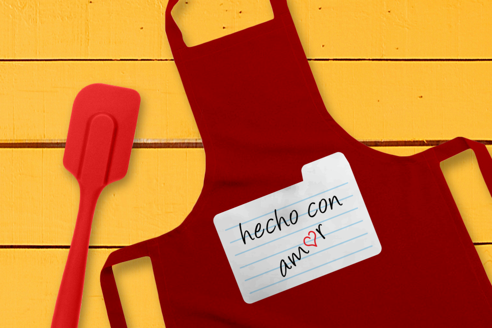 Download Free Hecho Con Amor Made With Love Graphic By Designedbygeeks for Cricut Explore, Silhouette and other cutting machines.