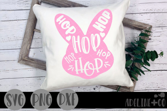 Hop Bunny Graphic Crafts By adelinenco