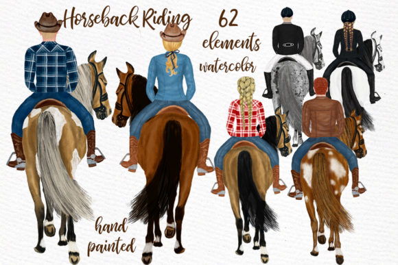 Horseback Riding Clipart Graphic Illustrations By LeCoqDesign - Image 1