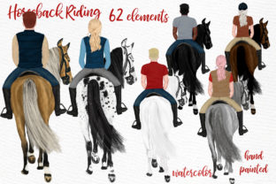 Print on Demand: Horseback Riding Graphic Illustrations By LeCoqDesign 1