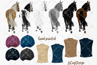 Print on Demand: Horseback Riding Graphic Illustrations By LeCoqDesign 4
