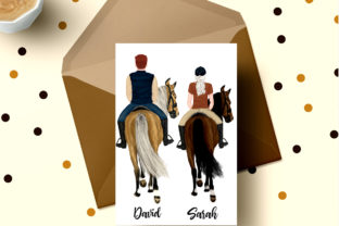 Print on Demand: Horseback Riding Graphic Illustrations By LeCoqDesign 6