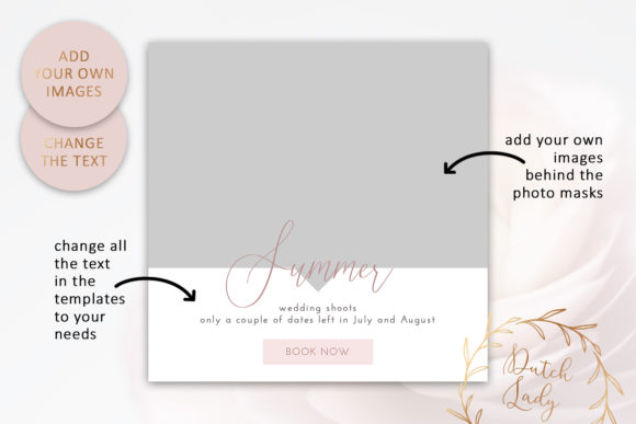 Download Free Instagram Post Template Set 2 Graphic By Daphnepopuliers for Cricut Explore, Silhouette and other cutting machines.