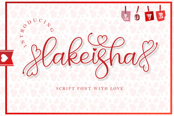 Print on Demand: Lakeisha Script & Handwritten Font By airotype