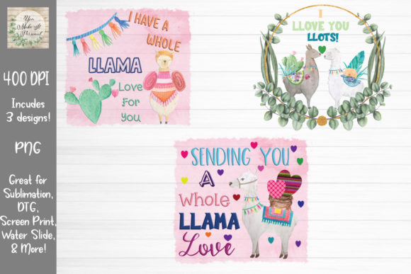 Download Free Llama Bundle Valentines Day Graphic By You Make It Personal for Cricut Explore, Silhouette and other cutting machines.