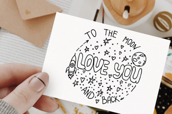 Download Free Love You To The Moon And Back Graphic By S Yanyeva Creative for Cricut Explore, Silhouette and other cutting machines.