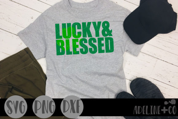 Download Free Lucky And Blessed Graphic By Adelinenco Creative Fabrica for Cricut Explore, Silhouette and other cutting machines.