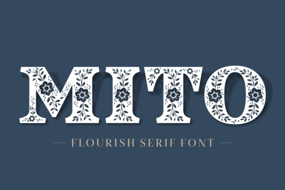 Print on Demand: Mito Display Font By Situjuh - Image 1