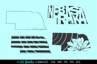 Print on Demand: Nebraska State Map Graphics Graphic Illustrations By 212 Fonts