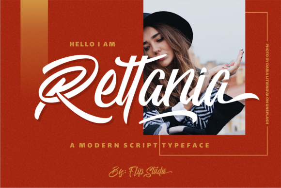 Print on Demand: Rettania Script & Handwritten Font By FlipStudio