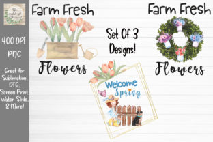 Spring Bundle Farm Fresh Flowers Graphic Print Templates By You Make It Personal