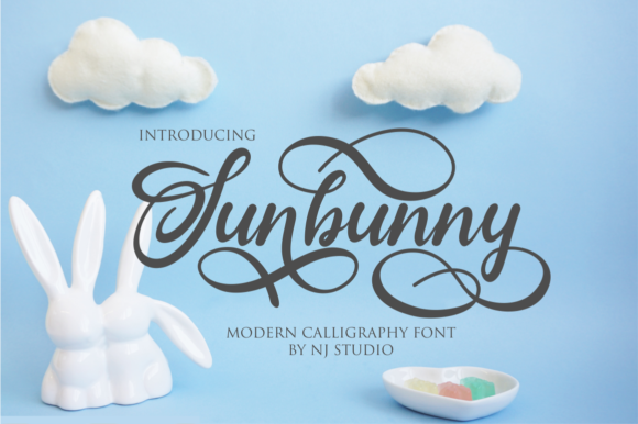 Download Free Sunbunny Font By Njstudio Creative Fabrica for Cricut Explore, Silhouette and other cutting machines.