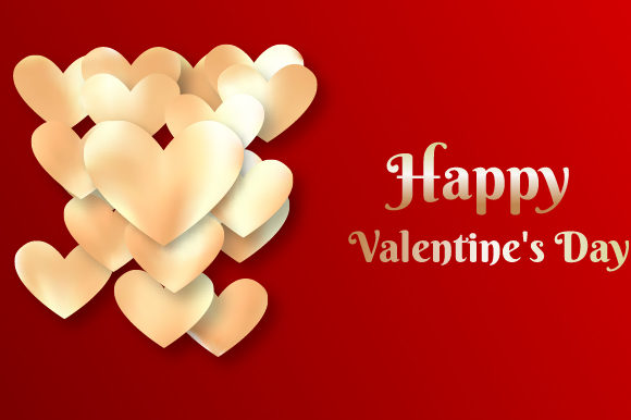 Valentine's Day Design Background Graphic Backgrounds By MrBrahmana