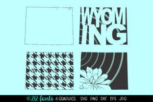 Print on Demand: Wyoming State Map Graphics Graphic Illustrations By 212 Fonts