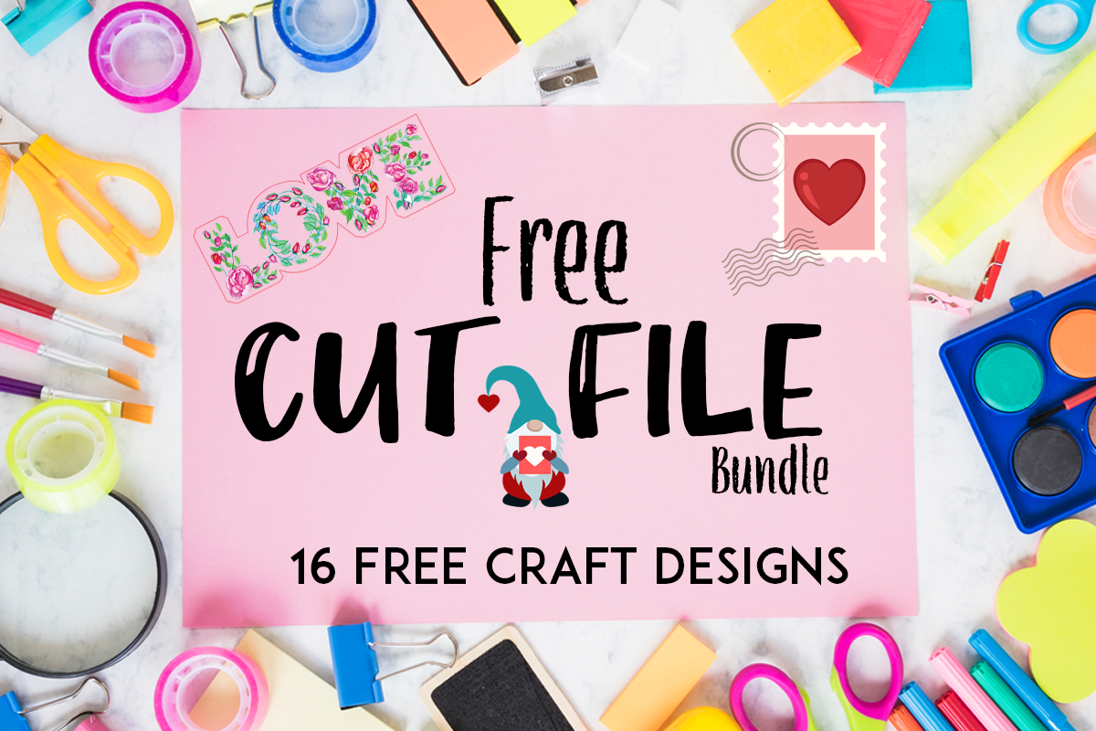 Download Free The Free Craft Bundle Bundle Creative Fabrica for Cricut Explore, Silhouette and other cutting machines.