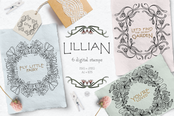 Download Free Vintage Spring Clipart Bundle Graphic By Wallifyer Creative for Cricut Explore, Silhouette and other cutting machines.