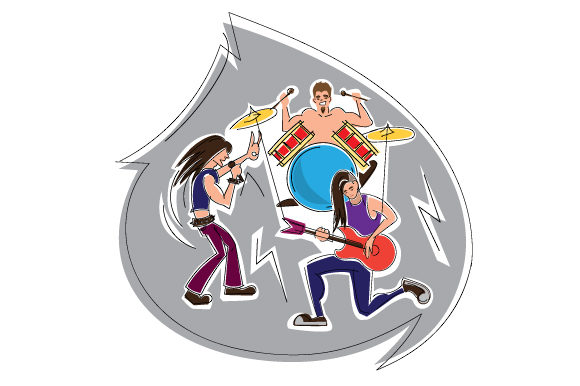Rock Band Performing Music Craft Cut File By Creative Fabrica Crafts