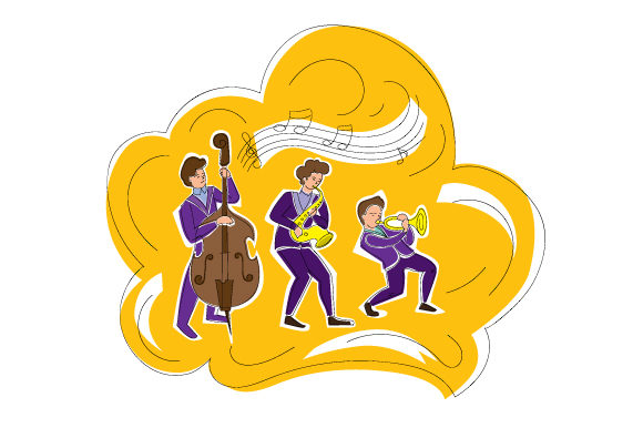 Jazz Band Performing Music Craft Cut File By Creative Fabrica Crafts