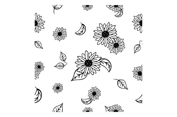 Download Free Cartoony Sunflower Pattern Svg Cut File By Creative Fabrica for Cricut Explore, Silhouette and other cutting machines.