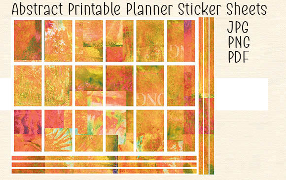 Download Free Abstract Printable Planner Sticker Set 1 Graphic By Kathryn for Cricut Explore, Silhouette and other cutting machines.