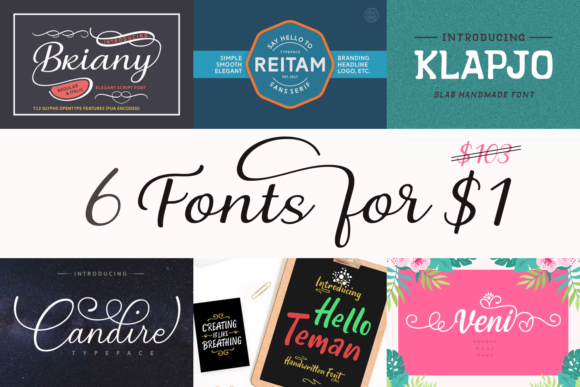 Print on Demand: 6 Gorgeous and Fancy Fonts Font By Andrian Dehasta