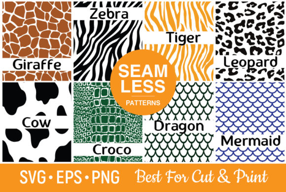 Download Free Animal Skin Patterns Graphic By Olimpdesign Creative Fabrica for Cricut Explore, Silhouette and other cutting machines.