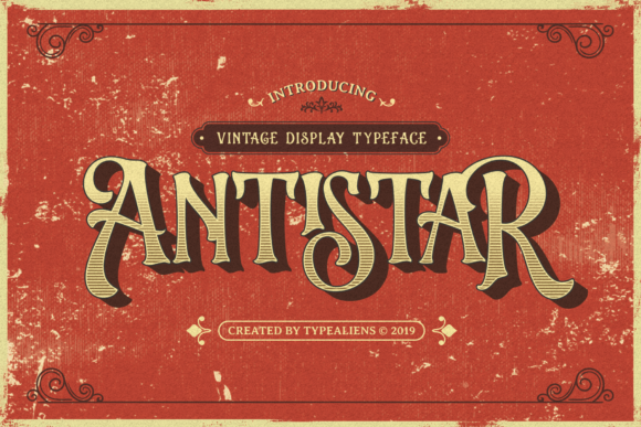 Print on Demand: Antistar Display Schriftarten von typealiens