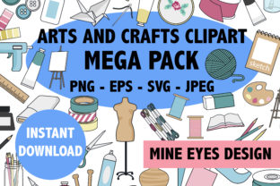 Print on Demand: Arts and Crafts Mega Pack Graphic Icons By Mine Eyes Design