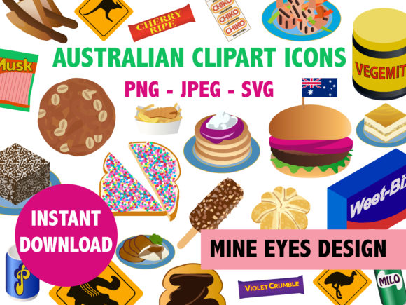 Download Free Aussie Snack Graphic By Mine Eyes Design Creative Fabrica for Cricut Explore, Silhouette and other cutting machines.
